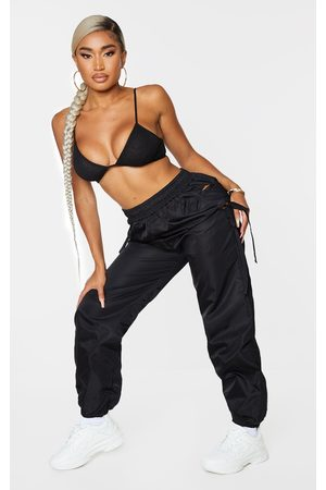 PrettyLittleThing Shape Tie Detail Cut Out Shell Joggers