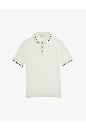 Ted Baker Somerse pointelle knit polo shirt