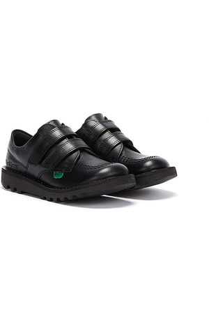 Kickers Women Sports Shoes - Toddlers Kick Lo Velcro Leather Shoes