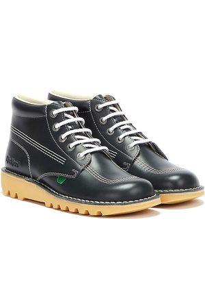 Kickers Mens Kick Hi Core Navy/Natural Leather Boots
