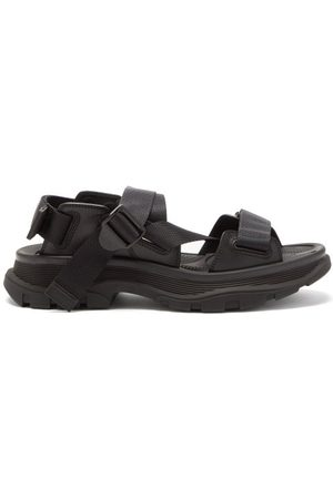 Alexander McQueen Tread-sole Leather And Webbing Sandals - Mens