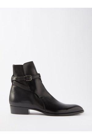 Saint Laurent Wyatt Leather Boots - Mens