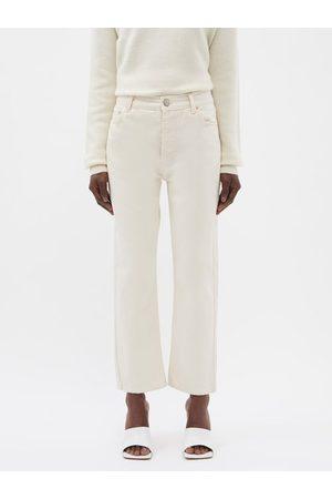 Raey Crop Organic-cotton Straight Leg Jeans - Womens - Ivory