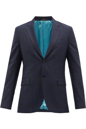 Paul Smith Check Wool-twill Suit Jacket - Mens - Navy