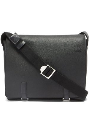 Loewe Military Leather Messenger Bag - Mens