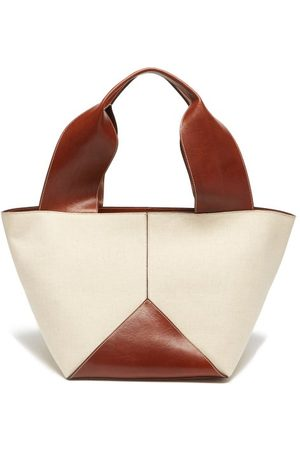 Métier Market Canvas And Leather Tote Bag - Womens - Cream
