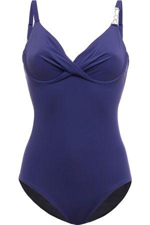 Simone Pérèle Women Swimsuits - Simone Pérèle Woman Twist-front Chain-embellished Underwired Swimsuit Navy Size 1 D