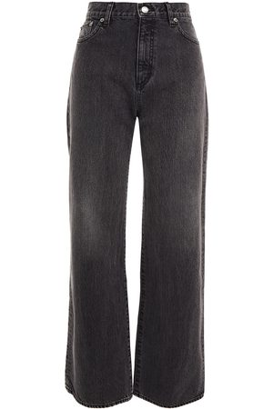 SIMON MILLER Woman High-rise Wide-leg Jeans Anthracite Size 24