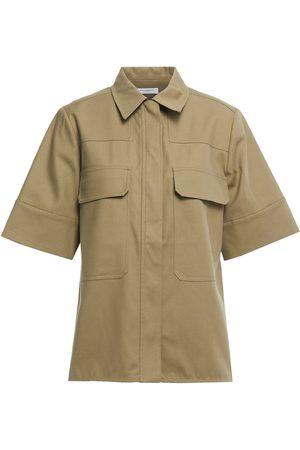 Equipment Woman Cotton-blend Twill Shirt Army Size L