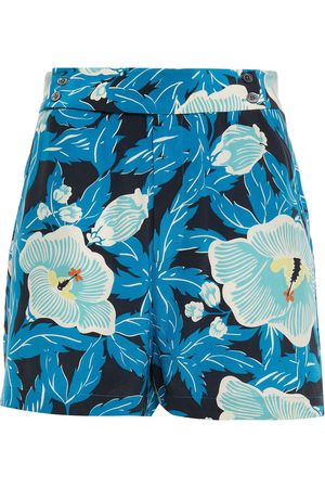 Equipment Woman Lyra Floral-print Washed-silk Shorts Size 10