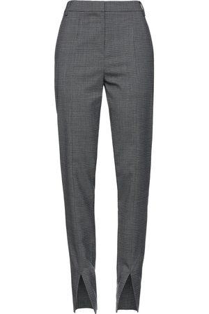 tibi Woman Checked Woven Slim-leg Pants Dark Gray Size 10