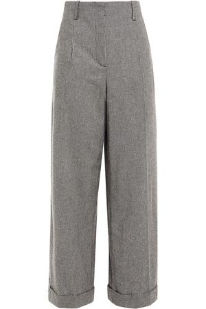 Sandro Woman Courey Houndstooth Flannel Wide-leg Pants Size 34
