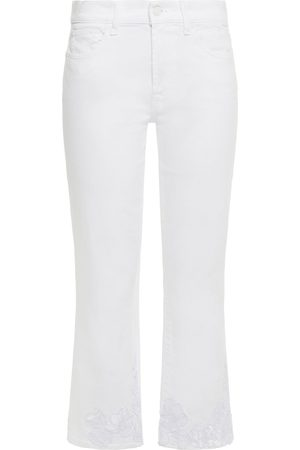 7 for all Mankind Woman Embellished Mid-rise Kick-flare Jeans Size 23