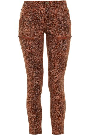 Joie Woman Park Cropped Leopard-print Twill Skinny Pants Camel Size 23