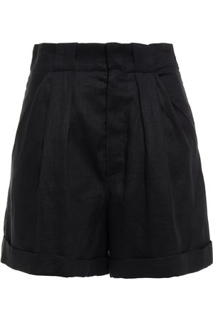 Equipment Woman Pleated Linen Shorts Size 10