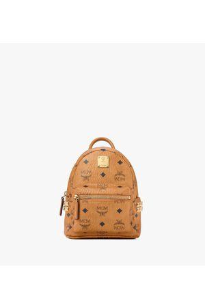 MCM Stark Bebe Boo Side Studs Backpack in Visetos