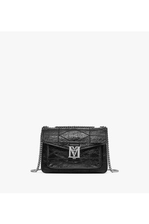 MCM Mena Quilted Shoulder Bag in Crushed Leather
