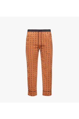 MCM Classic Logo Silk Pajama Pants