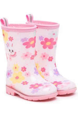 Miki House Floral-print wellie boots