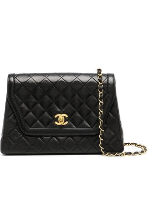 CHANEL 1990 diamond-quilted trapeze-shaped crossbody bag