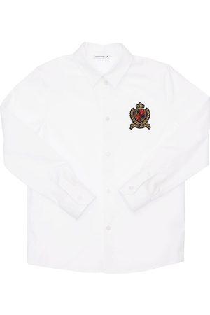 Dolce & Gabbana Boys Shirts - Logo Stretch Cotton Poplin Shirt