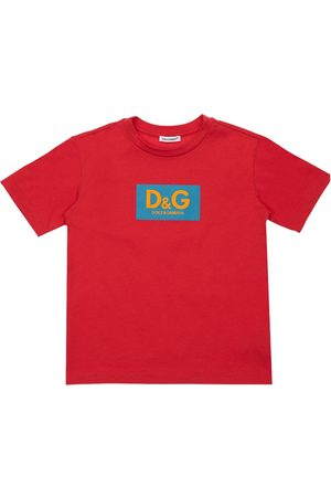 Dolce & Gabbana Boys T-shirts - Logo Print Oversize Cotton T-shirt