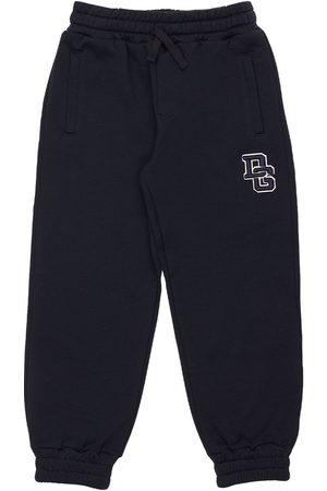 Dolce & Gabbana Boys Trousers - Logo Cotton Sweatpants