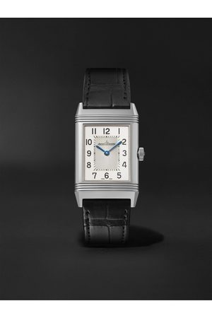 Jaeger-LeCoultre Men Watches - Reverso Classic Medium Thin Hand-Wound 24.4mm Stainless Steel and Alligator Watch, Ref. No. Q2548440
