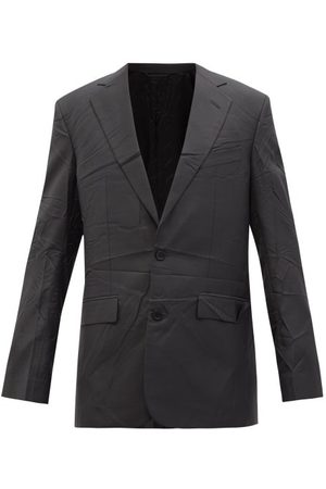 Balenciaga Single-breasted Crinkled-twill Suit Jacket - Mens