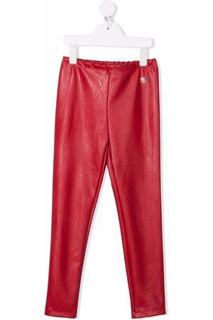 MONNALISA Faux-leather slip-on leggings