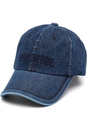 JUUN.J Men Hats - Logo-print denim cap