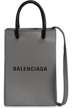 Balenciaga Logo Leather Tote Bag