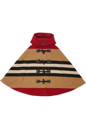 Burberry Hooded Wool Cape