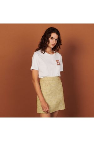 Sandro T-shirt with embroidery on the chest
