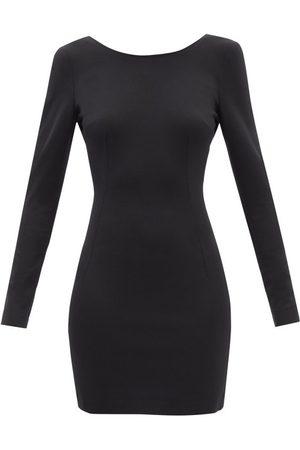 Dolce & Gabbana Scoop-back Jersey Mini Dress - Womens