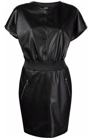 Karl Lagerfeld Zip-detail faux leather dress