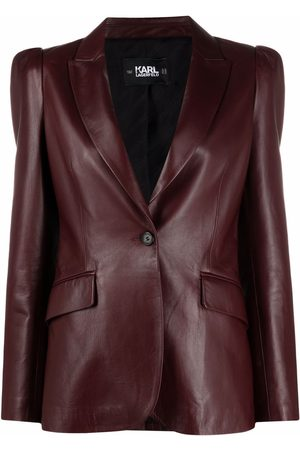 Karl Lagerfeld Single-breasted leather blazer