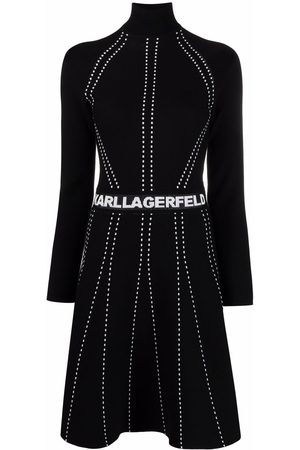 Karl Lagerfeld Stitched knitted dress