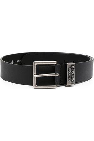 Armani Logo-embossed leather belt