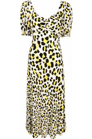 Diane von Furstenberg Leopard-print midi dress