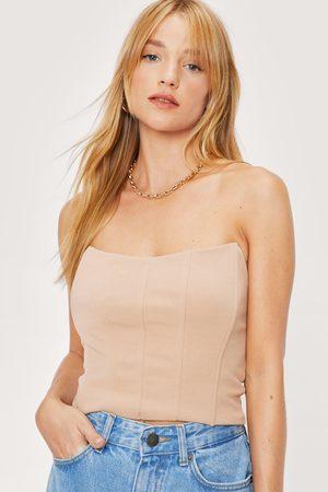 NASTY GAL Womens Petite Bandeau Boned Corset Top
