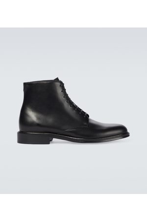 Saint Laurent Army laced leather boots