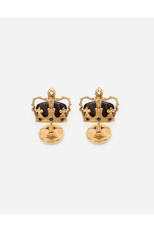 Dolce & Gabbana Collection - Crown cufflinks with iron eye male OneSize