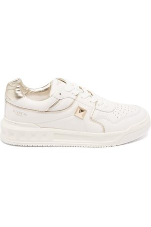 Valentino Garavani One Stud Quilted Low-top Leather Trainers - Womens