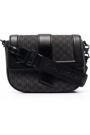 Karl Lagerfeld K/Saddle monogram satchel bag
