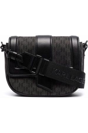 Karl Lagerfeld K/Saddle monogram shoulder bag