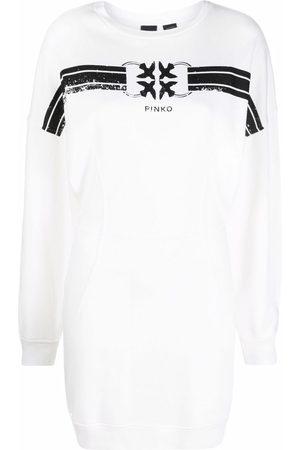 Pinko Logo-print long-sleeve sweater dress