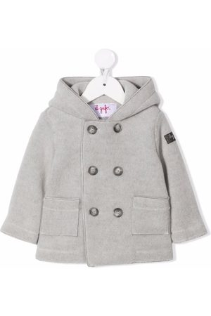 Il gufo Hooded double-breasted coat