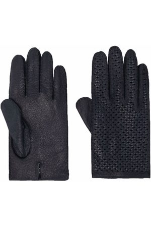 Kiton Perforated leather gloves