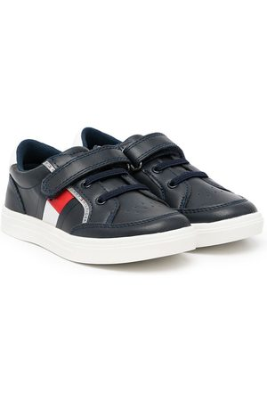 Tommy Hilfiger Logo-print touch-strap sneakers